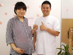 狭山ヶ丘バランス整骨院の妊娠の検診で逆子といわれ治療の結果治った患者様